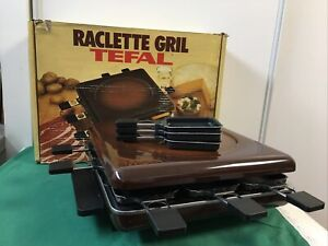 Ancien Appareil TEFAL Modèle Tarentaise 39075 Raclette Grill 8 Coupelles