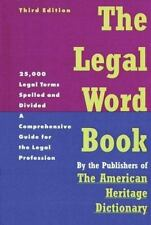 The Legal Word Book : A Comprehensive Guide for the Legal Profession!