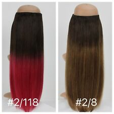"""Rapunzel's Halo Ombre 18"""" 140g+ Premium Quality flip-in Human Hair Extensions"""