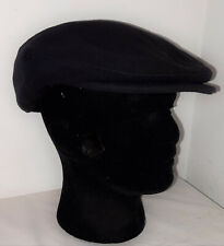 Kenneth Michael Black Wool and Cashmere Cabbie Flat Cap Gatsby hat XL
