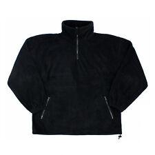 Mens Black EXTRA Thick Work Outdoors Warm Heavy Fleece Half Zip Jacket XXLarge