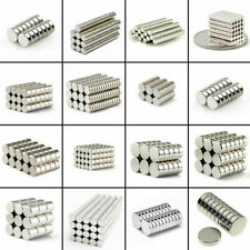 """10 Pack Neodymium Magnets Large 1"""" Inch Strong Rare Earth with Adhesive Backing"""