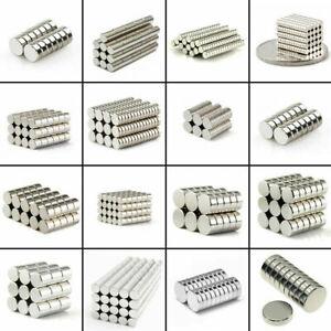 Lot 25 50 100 Pcs Round Disc Magnets Rare Earth Neodymium Magnet N50 N48 N52 N42
