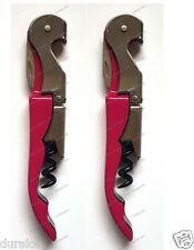 2 x Smooth Pull Pink Waiters Friend Wine Bottle Opener Corkscrew Unbreakable