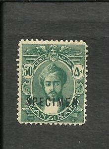 BRITISH ZANZIBAR YV 151   SCOTT 168 SPECIMEN, FINE