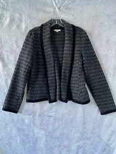 """Stylish  """"LAURA ASHLEY""""  Grey WOOL Open Front Jacket Size 14"""