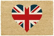 Large Union Jack Love Heart Indoor Mat Non Slip Coir Doormat Door Matt Rug UK