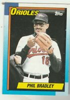 FREE SHIPPING-MINT-1990 Topps #163 Phil Bradley Orioles PLUS BONUS CARDS
