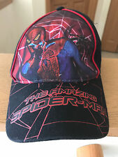 The Amazing Spider-Man Cap Hat Marvel Adjustable EUC Black 2012 Cotton Red