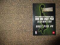1998-99 TOPPS STADIUM CLUB NBA DRAFT PICK REDEMPTION CARD #9(Dirk Nowitzki)RARE!