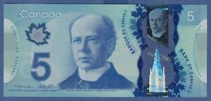 Canada $5 (2013) - UNC POLYMER NOTE **HCH9418419**  YSL5