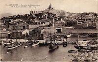 CPA Marseille-Vue prise du Transbordeur sur Notre Dame de la Garde (185653)