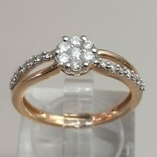 9 Carat Solid Yellow Gold 0.33 Carat Diamond Cluster Ring Size L