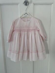 Sarah Louise Baby Girls Pink Dress Age 6 Months