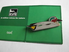 R.S.P.B. British Wildlife A Million Voices For Nature Teal Duck Badge BNOC
