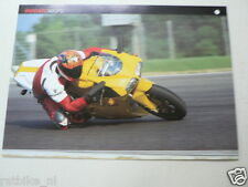 D750 BROCHURE DUCATI 748 SPS  FRENCH 2 PAGES 1999