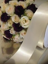 Car Ribbon Ivory Satin Ribbon 7 Metres X 50 Mm Wedding Flat Packed FREEPOST