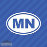 Minnesota MN Oval Vinyl Decal Sticker