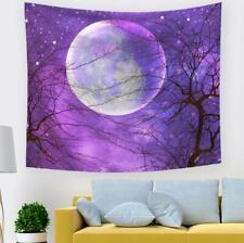 3D Purple Moon A757 Tapestry Hanging Cloth Hang Wallpaper Mural Photo Zoe