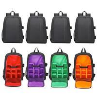 Waterproof Digital DSLR Camera Backpack w/ Rain Cover Laptop 15.6inch Soft Bag