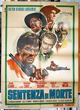 manifesto 2F film SENTENZA DI MORTE Tomas Milian Richard Conte 1967 western