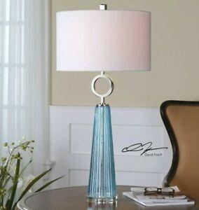 Uttermost 27698-1 Navier 1 Light Buffet Lamp - Blue