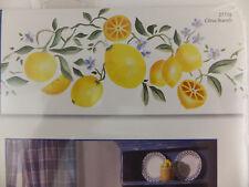 Plaid Stencil Decor Laser Cut Citrus Branch Border Lemons Wall Art New 27735