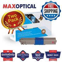 Max Optical 2Pack Oki 44469702 (Type C17) Compatible Toner- Magenta