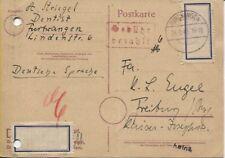 Lokal/Barfrankatur Überklebung Gebühr bezahlt Postkarte Furtwangen (B08045)