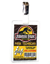 Jurassic Park ID Badge Park Technician Dinosaur Cosplay Prop Costume Comic Con