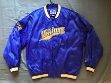 Men's Logo Athletic NFL Minnesota Vikings purple satin jacket size L