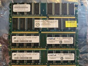 DDR 2 4GB RAM 4x1GB 800/667MHZ modules 1Rx8 Tested and Working @800MHZ