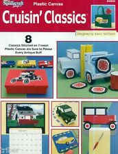 Antique Cars & Trucks Coasters Bank Box  Plastic Canvas Toys PATTERNS