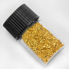 1 Gram Alaska Natural Gold Nuggets & Glass Bottle. +-0.01g.      (#B30-00392)