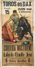 "CORRIDA AFFICHE ""TOROS EN DAX"""