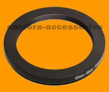 62mm a 49mm 62-49 stepping Step Down Filtro Anello Adattatore 62-49mm 62mm-49mm