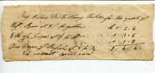 Henry Thacker July 27th 1791 Handwritten Signed Autograph Sale of Good Bill
