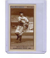 FRED HUTCHINSON '41 BUFFALO BISONS PITCHER/OUTFIELDER 26 WINS & BATTED .392