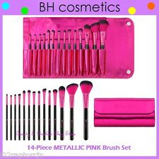 NEW BH Cosmetics 14-Piece METALLIC PINK Makeup Brush Set w/Case FREE SHIPPING