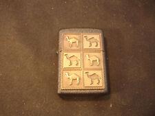 1994 Zippo Brass Joe Camel The Herd Black Crackle Cigarette Lighter Made In USA