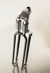 Bicycle Retro Style Springer Fork Rubber and Cup Black New Silver