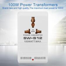 100W White 110/120V to 220/240V Step-Up/Down Power Voltage Converter Transformer
