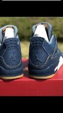 2018 Levis x Air Jordan 4 Retro Denim Sz 8.5 - A02571-401