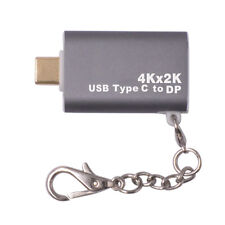 USB3.1 Type C To DisplayPort DP 4K HD Adapter Converter Keychain for Macbook Pro