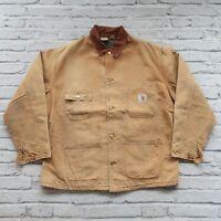 Vintage Carhartt Blanket Lined Chore Work Jacket Size 48 XL Wip