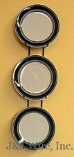 "3 PLATE VERTICAL WALL DISPLAY HANGER HOLDER FOR 6""-8"" PLATES BLACK METAL"