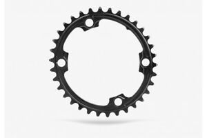 Absolute Black Road Oval Shimano Chainring (110 BCD) 4 Bolt 36T Black