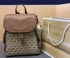 New $398 Michael Kors EVIE Bag MD Handbag Designer MK Monogram Backpack