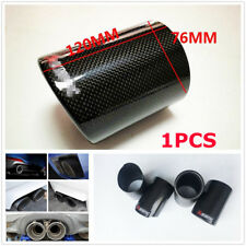 1 X 76mm /3Inch Outlet Carbon Fiber Exhaust Muffler Tip Pipes Car Accessories