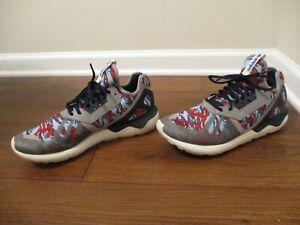 Used Worn Size 12 Adidas Tubular Runner Shoes Red Seaweed Camo B35637